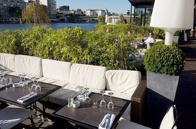 Eat in style on the Seine at La Plage Parisienne restaurant